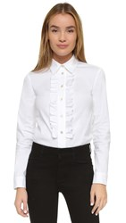 Red Valentino Ruffle Blouse White