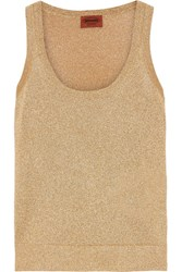 Missoni Metallic Knitted Tank Gold