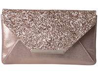 Jessica Mcclintock Riley Glitter Clutch Rose Gold Clutch Handbags