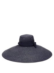 Lola Hats Grand Rise And Shine Straw Hat Navy