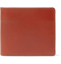 A.P.C. Stefan Leather Billfold Wallet Brown