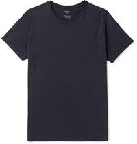 Albam Two Pack Slim Fit Cotton Jersey T Shirt Navy