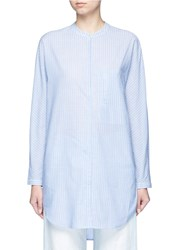 Equipment 'Elsie' Stripe Cotton Tunic Shirt Blue