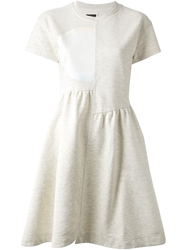 Marc By Marc Jacobs Asymmetric Panels Flared Dress