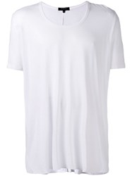 Unconditional Loose Scoop Neck T Shirt White
