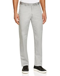 The Men's Store At Bloomingdale's Cotton Regular Fit Pants Grey