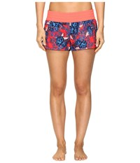 Roxy Elasticated 2 Boardshort Lululah Combo Neon Grapefruit Women's Swimwear Multi