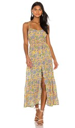 Cleobella Mindy Midi Dress In Yellow. Saffron