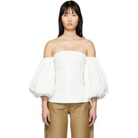 Edit Ssense Exclusive White Off The Shoulder Blouse