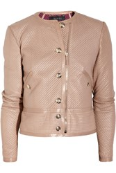 Gucci Quilted Leather Jacket Blush