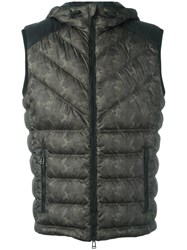 Belstaff Camouflage Padded Gilet Green
