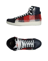 Pdo Gold High Top Sneakers Dark Blue