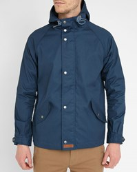 Knowledge Cotton Apparel Blue Wax Hooded Parka