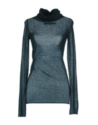 Enza Costa Knitwear Turtlenecks Women Dark Green