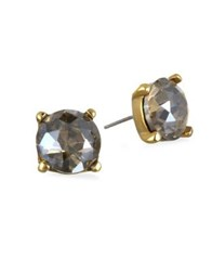 Badgley Mischka Faceted Stud Earrings Gold