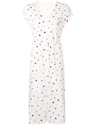 Chinti And Parker Strawberry Print Long Dress White