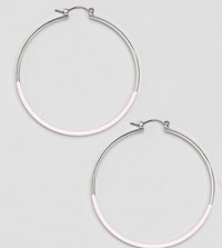 Accessorize Pink Dipped Hoop Earrings
