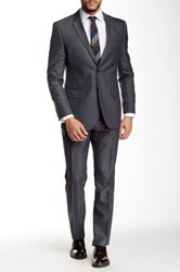 Nicole Miller Gray Two Button Notch Lapel Suit