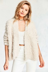 Kimchi And Blue Grizzly Open Cardigan Ivory