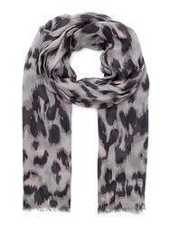 Eastex Abstract Animal Print Scarf Multi Coloured