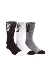 Stussy Stock 3 Pack Socks Black