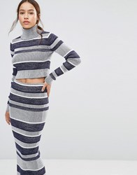 Finders Keepers Never Catch Me Striped Jumper Navy Stripe