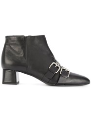 Fratelli Rossetti Buckled Boots Leather Metal Rubber Black