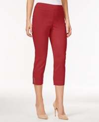 Jm Collection Cropped Straight Leg Pants Only At Macy's New Red Amore