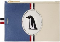 Thom Browne Blue Large Penguin Icon Coin Purse