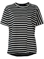 Sofie D'hoore Striped Oversized T Shirt Black