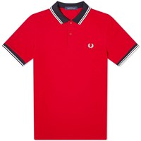 Fred Perry Contrast Trim Polo Red