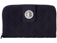 Vera Bradley Rfid Turnlock Wallet Classic Black Wallet Handbags