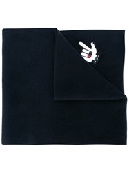 Dsquared2 'Punk' Patch Scarf Black