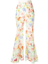 Alice Mccall Picasso Wide Floral Trousers White