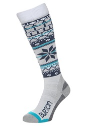 Burton Knee High Socks Stout White