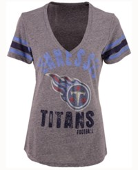 G3 Sports Women's Tennessee Titans Any Sunday Rhinestone T Shirt Gray