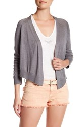 Zadig And Voltaire Monday Open Front Silk Blend Cardigan Gray