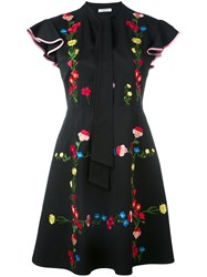 Vivetta Embroidered Dress Women Viscose 42 Black