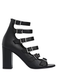 Saint Laurent 90Mm Babies Multi Buckle Leather Sandals