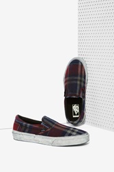 Nasty Gal Classic Slip On Sneaker Overwashed Plaid