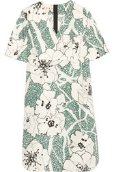 Marni Floral Print Cotton Dress Green
