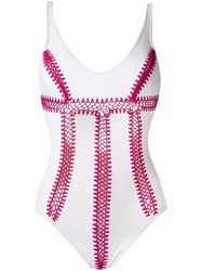 Amir Slama Crochet Swimsuit White