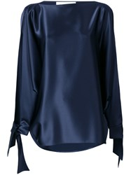 Gianluca Capannolo Tie Cuff Blouse Blue