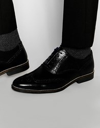 Red Tape Smart Brogues In Black Leather
