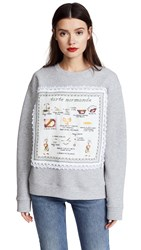 Michaela Buerger Tarte Normande Sweatshirt Grey