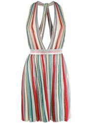 Missoni Deep V Neck Dress Red