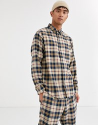 Brooklyn Supply Co. Co Co Ord Shirt In Brown Check