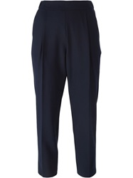 Erika Cavallini Semi Couture Cropped Trousers Blue