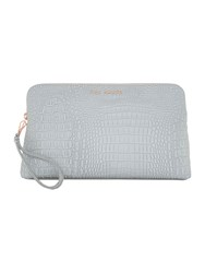 Ted Baker Loulou Croc Cosmetic Bag Silver