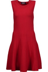 Magaschoni Silk Blend Jersey Mini Dress Red
